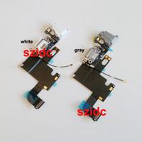 câble gris achat en gros de-Origianl nouveau chargeur chargeur port dock casque jack mic ruban câble câble pour iphone 6 4.7