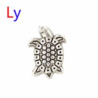 Wholesale Sea Turtle Charms Wholesale - Silver Sea Turtle Tortoise floating charms for glass floating charm locket pendant Wholesale 20pcs Free shipping MFC1031