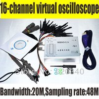 Wholesale Benchtop Tools - PC Analog Virtual oscilloscope 16 Channel Logic Analyzer Bandwidth 20M Sampling rate 48M Circuit analysis debing tools order<$18no track