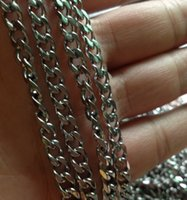 Wholesale Strong Stainless Chain - 10 meter  Lot Factory direct sale Jewelry Finding Strong Curb Link Chain Stainless steel DIY jewlery Marking 5mm jewelry marking DIY