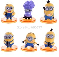 10sets / lot 4CM the1st Generation Cattivissimo Me Film Minion male Minion PVC Action Figure Modello Collection Toy Doll ST03006
