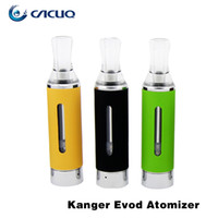 Wholesale E Cigarette Bottom Coil - Authentic Kanger evod Vaporizer Kangertech BCC Atomizers 1.6ml Tanks with Changeable Bottom Coil e cigarette Atomizer