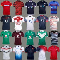 Wholesale England Rugby Xxl - free shipping 17 18 France England RLWC Scotland Wales rugby jersey 2017 home rugby shirts IRISH Ireland jerseys Best quality adult S~XXXL