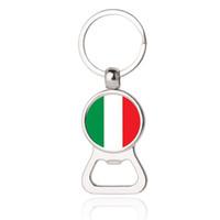 Wholesale italy car - Beer Bottle Opener Key Chains Italy Argentina Austria Finland Ukraine Flag Car Keyrings EDC Men Fashion Jewelry