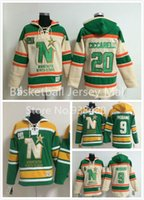 Wholesale Dino Hoodies - 2016 New, Minnesota North Stars #9 Mike Modano Hoodie Sweatshirt 20 Dino Ciccarelli Premier Stitched Authentic Ice Hockey Hoodies 365