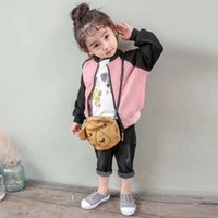 Wholesale Boys Wearing Briefs - Can Custom 2017 autumn and winter baby padded jacket boys and girls children cardigan jacket infants and young children's wear