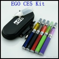 Wholesale Cigarro Eletronico Kit - 2014 best e cigarette ego ce5 starter kits ego t battery with ego CE5 atomizer ecigand e-Cigarette cigarro eletronico case A5