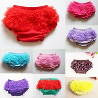 Wholesale Children Cute Underwear - 11 colors Baby Girls TUTU Bloomers Girls Pettiskirt tutus underwear PP pants Infant Ruffle Diaper Cover Cute Kids Short Children Clothing