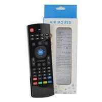 3d klavye toptan satış-X8 Kablosuz MXQ M8 Android TV Box K0240M için Mic Ses 3D Fly Air Fare Mini Klavye MX3 Oyun Kumandası ile Uzaktan Kumanda