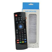 m8 mini tv toptan satış-X8 Kablosuz Uzaktan Kumanda ile Mic Ses 3D Fly Air Fare Mini Klavye MX3 MX8 MX8 için MX8 M8 Android TV Kutusu K0240M IPTV