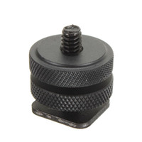Wholesale Dsrl Camera - BLACK Professional Durable 1 4-20 Tripod Mount Screw Adapter to Camera Hot Shoe Adaptor For Nikon DSRL Big size Studio Accessory