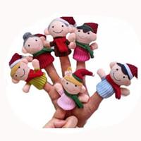 Wholesale Storyteller Toy For Kids - 12SET Lot Christmas Famliy Finger Puppets Set of 6piece,Plush Toys Hand Puppets For Kids Babies Storyteller Talking Props