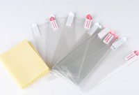 """Wholesale Iphone4 Screen Film - High Clear LCD Front Screen Protector Guard Film + Cloth For iPhone4 5 6 6G 4.7"""" Plus 5.5"""" No Retail Package"""