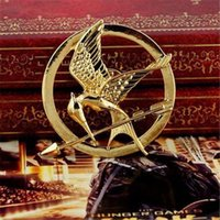 Wholesale Mockingjay Gold Wholesale - New The Hunger Games Brooches Inspired Mockingjay And Arrow Newest Hot Movie Hunger Games Bird Brooch Pins For Women And Men DHL