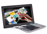 Wholesale Buy Touch Screens - 11.6 inch laptop tablet rotating screen laptop touch screen ultrabook 2G RAM 320G HDD Celeron dual core 1.8Ghz Win7 8 DHL FREE Buy Best