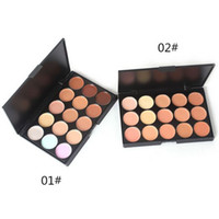 Wholesale Pro Tools Mixing - Professional 15 Colors Concealer Foundation Contour Face Cream Makeup Palette Pro Tool for Salon Party Wedding Daily