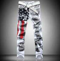 Wholesale Jeans Black Wings - Fashion Hot Mens Robin Jeans Famous Brand Denim With Wings American Flag Plus size
