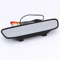 neues tft lcd auto großhandel-Neue 4,3-Zoll-TFT-Auto-LCD-Bildschirm Auto-Monitor-Spiegel-Rückfahrkamera für das Auto, das Aufzeichnung aufhebt