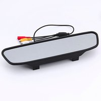 monitorización de espejo al por mayor-Nuevo 4.3 pulgadas TFT Auto pantalla LCD Monitor de coche Espejo retrovisor cámara de copia de seguridad para el coche Invertir registro