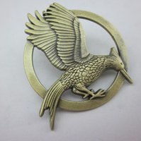 Wholesale Cheap Hunger Games - Hot Movie Catching Fire The Hunger Games Mockingjay Pin Gold Plated Bird Pin Brooch Cheap Hot Sale