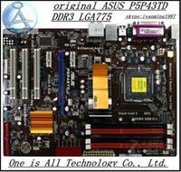 Wholesale Lga775 Motherboards Ddr3 - Wholesale-Free shipping original desktop motherboard for ASUS P5P43TD DDR3 LGA775 RAM 16G Desktop mainboard