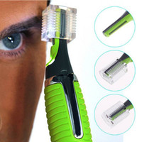 Wholesale Ear Face Hair Nose - Wholesale-2015 Personal LED Light Nose Ear Face Hair Trimmer Shaver Clipper New Facial Cleaner Home Health Care For Men