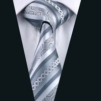 Wholesale Gray Silk Suits For Men - Gray Silk Tie for Men Jacquard Woven Formal Work Suit Tie Classic 8.5cm Width D-0589