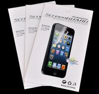 protector de pantalla frontal de iphone al por mayor-Para iPhone X 7 8 6 Galaxy S6 Clear Protector de pantalla con paquete minorista Front LCD Guard Film para iPhone6 5 6S plus