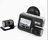 Wholesale Dashboard Camera Mirror - car dvr HD 720p Dual Lens Dashboard Car vehicle Camera Video Recorder DVR CAM G-sensor 5 2 order<$18no track