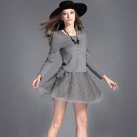 Wholesale Cheap Womens Plus Size Suits - Two Pieces Dresses suit women Slim thin solid wild fashion casual cheap plus size dresses clothes for womens black dress clothing woman xxl