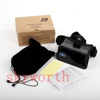 Wholesale Lens 3d Blue - Google Cardboard VR Virtual Reality 3D Universal head style Movies Games With Resin Lens For 3.5 - 6.3 Smart phone iphone Samsung