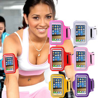 Wholesale sports arm band for iphone - For Iphone X 8 7 Plus Waterproof Sports Running Armband Case Workout Armband Holder Ponch Arm Bag Band for Samsung S7 S6 Edge For iphone 6s