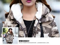 Wholesale female military jackets - Wholesale-2015 new female winter camouflage colors military long down jacket in women with thick warm winter coat