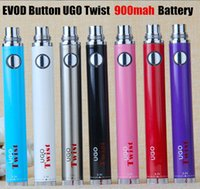 Wholesale Pass Through Variable - UGO Twist pass through battery bottom charge Evod Twist Variable Voltage Battery 3.2-4.8v vape batteries with USB Cable VS vision spinner