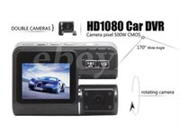 Vídeo Dual Lens carro DVR Dual Camera Car Recorder Blackbox traço Night Vision Cam 140View Dual Lens Camcorder i1000
