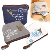 Wholesale F Pouches - Girl Mini Purse Motorcycle Decor Coin Change Key Pouch Zip Closure Vintage Free Shipping F#OS