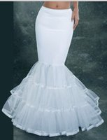 Wholesale Free Wedding Dresses - 2014 Mermaid Bridal Petticoat White Wedding Dress Underskirt Bridal Petticoat Crinoline Bridal Accessories Free Shipping