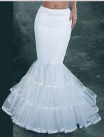 camiseta sirena de crinolina al por mayor-2014 sirena nupcial enagua vestido de novia blanco Underskirt nupcial enagua Crinolina accesorios nupciales envío gratis