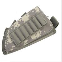 acciones de rifles al por mayor-escopeta de rifle táctico buttstock resto de la mejilla rifle stock ammo shell compartimiento de nylon molle bolsa titular