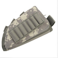 Wholesale Rifle Ammo Holder - tactical rifle shotgun buttstock cheek rest rifle stock ammo shell nylon magazine molle pouch holder