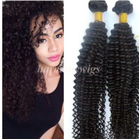Wholesale bohemian kinky curly hair for sale - Group buy Virgin Hair Bundles Brazilian Human Hair Weaves Kinky Curly Wefts inch Unprocessed Peruvian Indian Malaysian Bohemian Hair Extensions