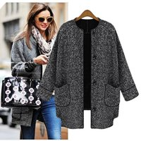 review-review with best reviews - Wholesale-2015 New Fashion Women's Winter Coat Female Wool Blends Outerwear Coat Grey Plus Size European Fashion Overcoat#16 18