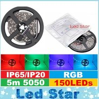 Wholesale Wholesale Led Light Bar Brands - Brand New 5M 150LEDs 5050 RGB Led Strips Lights 12V 30LEDs m Waterproof Led Rope Flexible Strips Lights For Christmas Bar Lighting