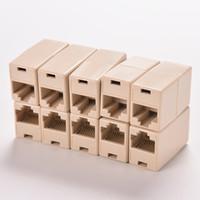 lan кабельные разъемы оптовых-новый универсальный разъем RJ45 Cat5 8P8C разъем муфты для расширения широкополосной сети Ethernet LAN кабель Столяр расширитель штекер