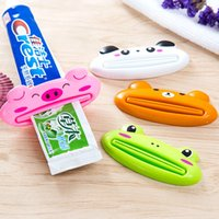 Wholesale Toothpaste Wholesale Supplies - New easy and Convenient Toothpaste tool Cartoon animal shape Toothpaste dispenser personality household bathroom supplies IA938