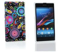 Wholesale Xperia Z1 Retro Case - Wholesale 1 Piece Retro Black Mayhem TPU Cover Case For Sony Xperia Z1 L39h Soft Phone Case Free