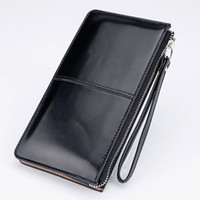 Wholesale Oil Credit - Women Wallets Candy Oil Leather Wallet Long Design Day Clutch Casual Lady Cash Purse Women Hand Bag Carteira Feminina HQB1673