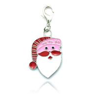 handgemachte schwimmt großhandel-Neues Weihnachtsgeschenk! Schwimmende Medaillon Charm Handmade Emaille Weihnachten ältere Anhänger Weihnachten Schmuck