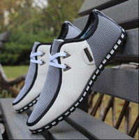 Wholesale Korean Style Sport Shoes - New 2018 Korean Casual shoes England style Fashion Mens Breathable Sneakers Fitness Sport running shoes Loafers net shoes size; 39-44
