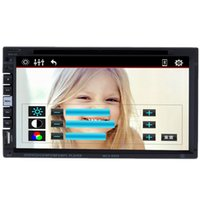 Wholesale Double Screen Mobile - Double 2Din 7 inch Universal Car DVD Player CD built-in Bluetooth FM Transmitter Radio Tuner Touch Screen 2 Din